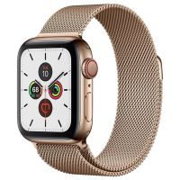 Apple Watch Series 5 40mm Stainless Steel Case with Milanese Loop Gold