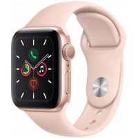 Apple Watch Series 5 44mm Gold Aluminum Case with Sport Band (Pink)