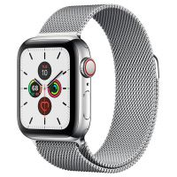 Apple Watch Series 5 44mm Stainless Steel Case with Milanese Loop Silver
