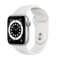 Умные часы Apple Watch Series 6 40mm Silver Aluminum Case with Sport Band (White)