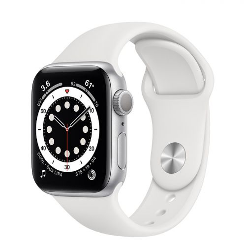 Умные часы Apple Watch Series 6 44mm Silver Aluminum Case with Sport Band (White)