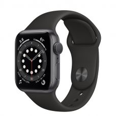 Умные часы Apple Watch Series 6 40mm Space Gray Aluminum Case with Sport Band (Black)