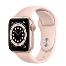 Умные часы Apple Watch Series 6 40mm Gold Aluminum Case with Sport Band (Pink)