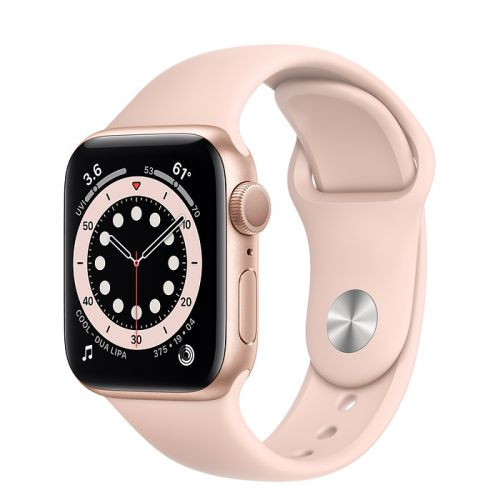 Умные часы Apple Watch Series 6 44mm Gold Aluminum Case with Sport Band (Pink)