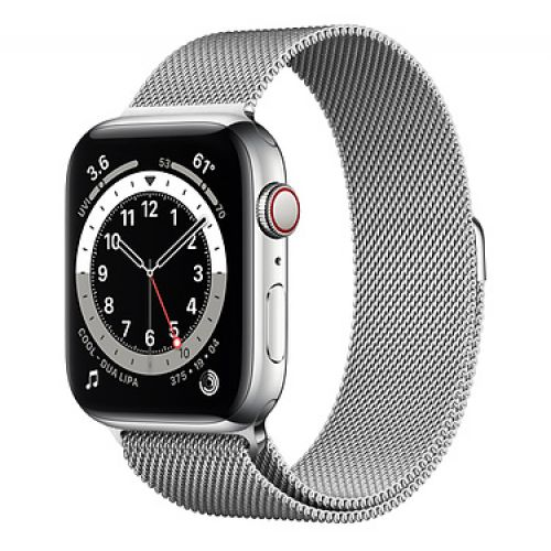 Умные часы Apple Watch Series 6 GPS + Cellular 44mm Stainless Steel Case with Milanese Loop Silver