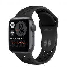 Умные часы Apple Watch Series 6 40mm Space Gray Aluminum Case with Nike Sport Band (Black)