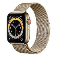 Умные часы Apple Watch Series 6 GPS + Cellular 44mm Stainless Steel Case with Milanese Loop Gold