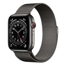 Умные часы Apple Watch Series 6 GPS + Cellular 44mm Stainless Steel Case with Milanese Loop Graphite