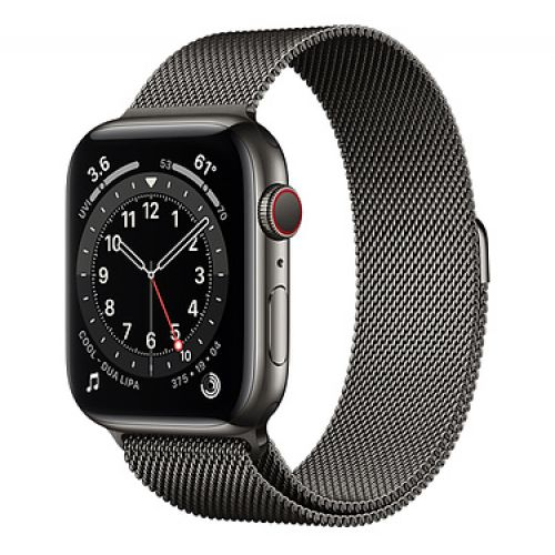 Умные часы Apple Watch Series 6 GPS + Cellular 44mm Stainless Steel Case with Milanese Loop Graphite