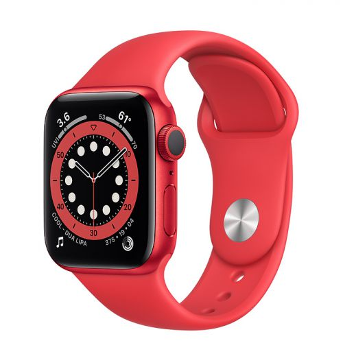 Умные часы Apple Watch Series 6 40mm Red Aluminum Case with Sport Band (Red)