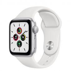 Умные часы Apple Watch SE 44mm Silver Aluminum Case with Sport Band (White)