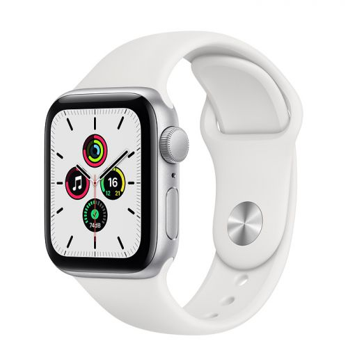 Умные часы Apple Watch SE 44mm Silver Aluminum Case with Sport Band (White)