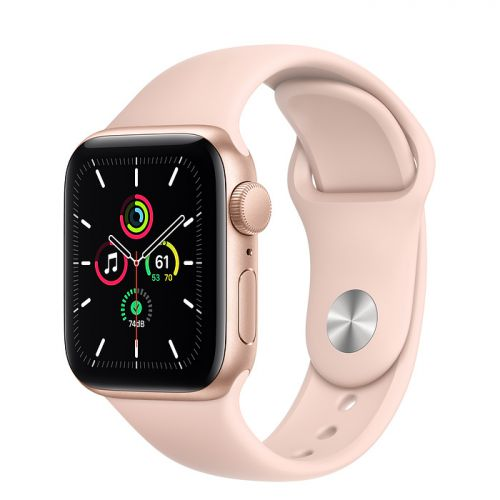 Умные часы Apple Watch SE 44mm Gold Aluminum Case with Sport Band (Pink)