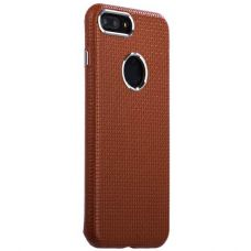 Чехол i-Carer Transformer Real Leather Woven Pattern Back Cove для iPhone 7 Plus/ 8 Plus Коричневый