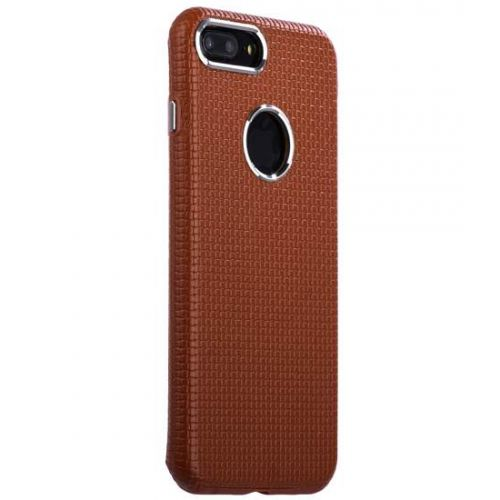 Чехол i-Carer Transformer Real Leather Woven Pattern Back Cove для iPhone 7 Plus/ 8 Plus Коричневый
