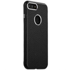 Чехол i-Carer Transformer Real Leather Woven Pattern Back Cove для iPhone 7 Plus/ 8 Plus Черный
