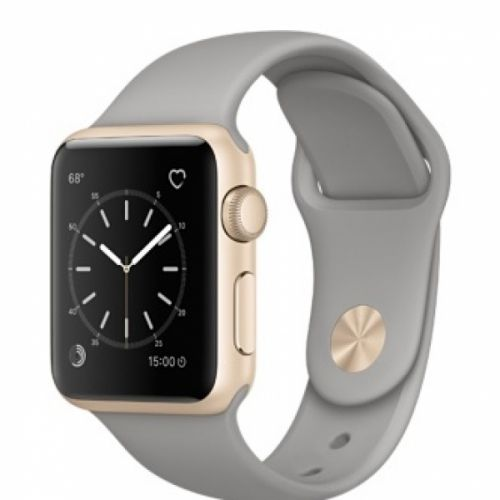 Apple Watch Series 2 38mm Aluminum Case with Concrete Sport Band (Gold)