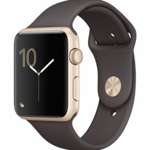 Apple Watch Series 2 42mm Aluminium Case with Cocao Sport Band (Gold)