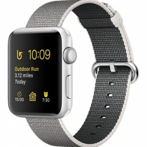 Apple Watch series 2 42mm Aluminium Case with Pearl Woven Nylon (Silver)