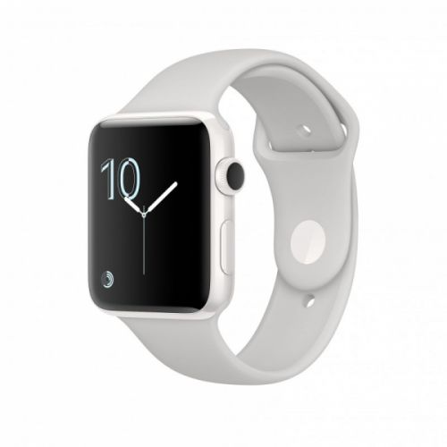 Apple Watch Series 2 38mm Aluminium Case with White Sport Band (Silver)
