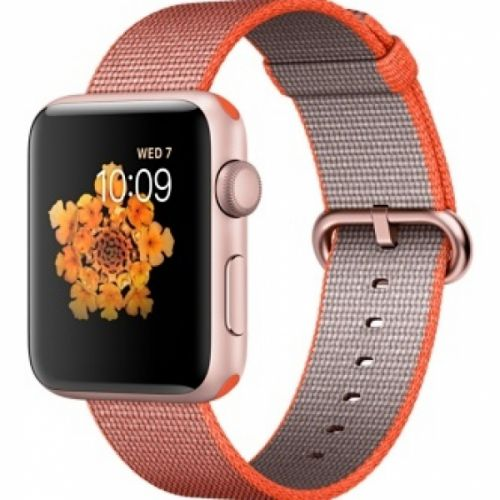Apple Watch series 2 42mm Aluminium Case with Space Orange/Anthracite Woven Nylon (Rose Gold)