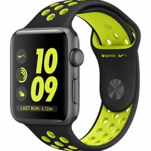 Apple Watch series 2 42mm Aluminium Case with Black/Volt Nike Sport Band (Space Gray)