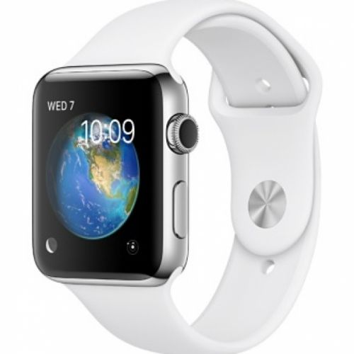 Apple Watch series 2 42mm Stainless Steel Case with Sport Band (White)