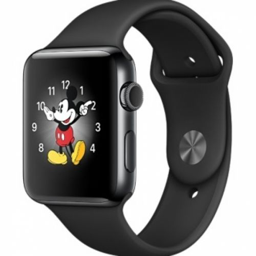 Apple Watch series 2 38mm Stainless Steel Case with Black Sport Band (Space Black)