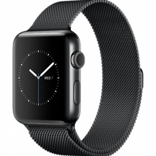 Apple Watch series 2 38mm Stainless Steel Case with Space Black Milanese Loop (Space Black)