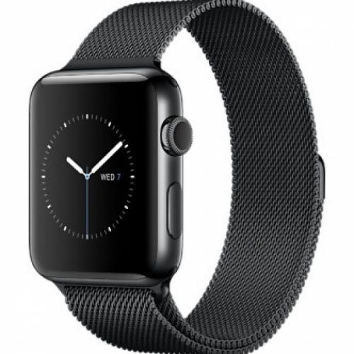 Apple Watch series 2  42mm Stainless Steel Case with Space Black Milanese Loop ( Space Black )