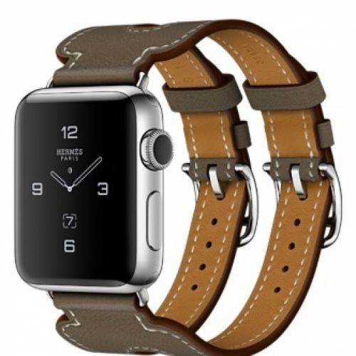 Apple Watch series 2 38mm Stainless Steel Case with Etope Swift Leather Double Buckle Cuff 38mm