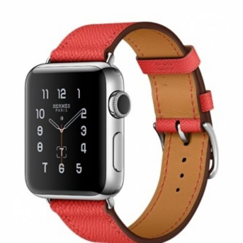 Apple Watch series 2 38mm Stainless Steel Case with Epsom Leather Single Tour (Rose Jaipur)