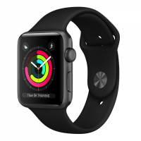 Apple Watch Series 3 38mm Aluminum Case with Sport Band  (Black)