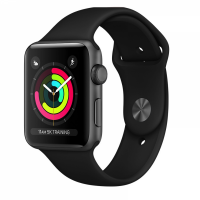 Apple Watch Series 3 42mm Aluminum Case with Sport Band (Black)